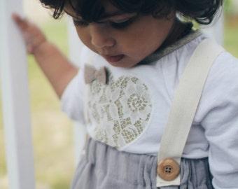 Suspender Skirt for baby girls, gray circle skirt,  high waisted toddler skirt , summer skirt, vintage skirt for infant, grey  girl clothing