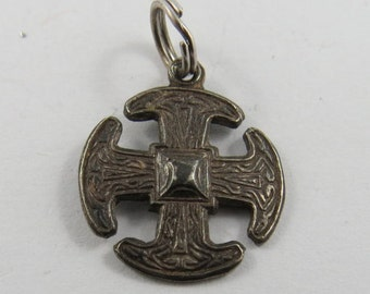 Canterbury Cross from Canterbury Cathedral in the United Kingdom Sterling Silver Charm or Pendant.