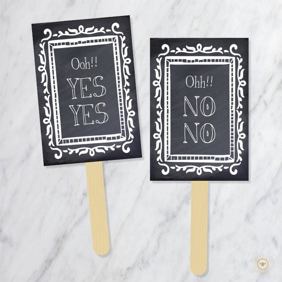 Say YES To The Dress Paddles Wedding Dress Shopping Signs