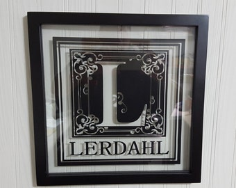 Personalized Name Floating Frame
