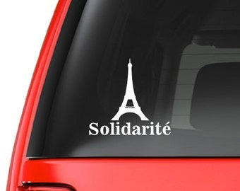 Solidarité (M46) Paris France Support Vinyl Decal Sticker Car/Truck Laptop/Netbook Window