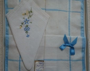 Wonderful 100% Pure Cotton Boxed Handkerchiefs - Vintage Unused Stock from the 1970s