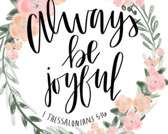 Always Be Joyful Poster