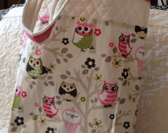 Owl Tote Bag with two inside pocketsg
