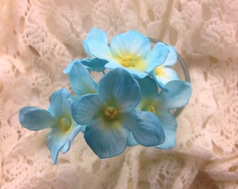 12 Hydrangea Gumpaste Sugar Flowers for Wedding and Bridal Shower Cake Toppers