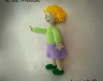 Annoying Lady from 12 oz. Mouse Crochet Toy MADE TO ORDER