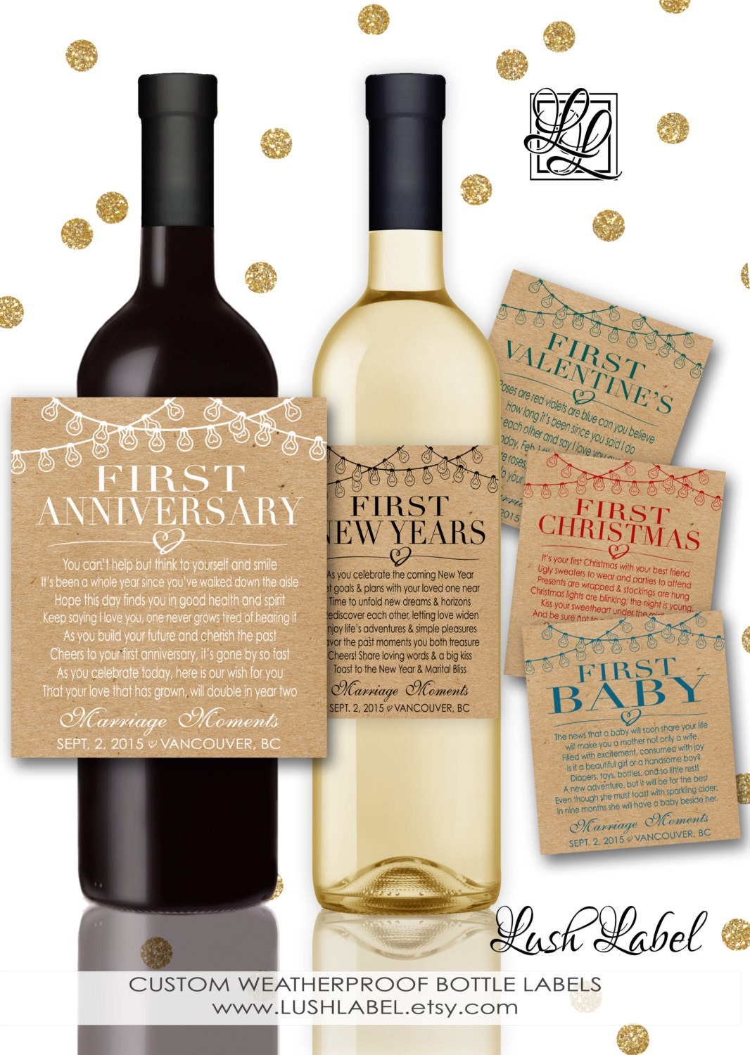 Custom Marriage Milestones Wine Labels Amp Champagne Labels