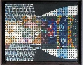 Flow circles  -   Acrylic on tablex   -  K. Morita  painting.