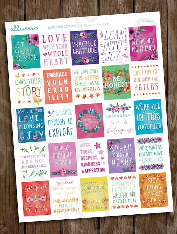 Planner Stickers | PRINTABLE Instant Download| Positive Quote Planner ...