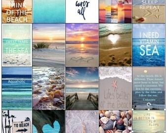 Beach Theme Vacation Planner Stickers Summer Stickers use w/Erin Condren Happy Planner HP Reg HP Planner Stickers Erin Condren Printable Kit