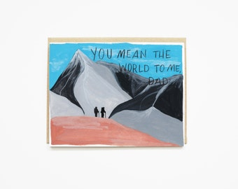 Father's Day Card, Card for Dad, Card for Him, Card for Husband, Dad Card, You Mean the World to Me