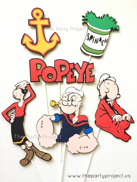 Popeye Centerpiece Popeye the sailor man birthday party