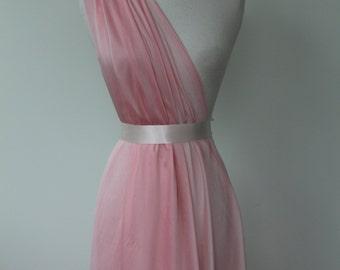 Light pink chiffon, Poly chiffon, Bridal fabric, Bridesmaid fabric, Lightweight, Soft, Sheer, Drape, Formal fabric, Prom, Costume fabric