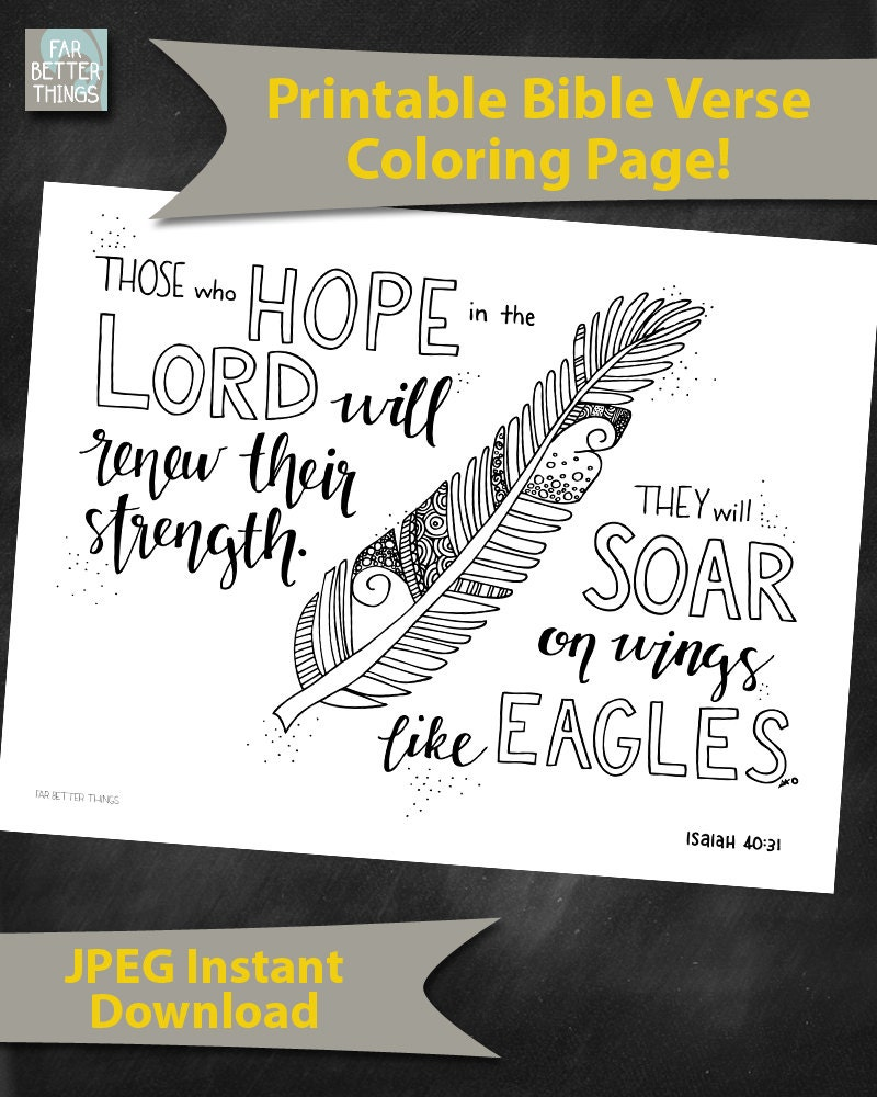 Bible Verse Coloring Page Isaiah 4031 By