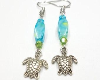 Baby Turtle Earrings