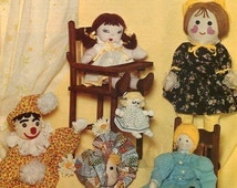 Free Us Ship American Crafts Series THE RAG DOLL Magazine Booklet 1976 New Condition Soft Cloth Sock Embroidery Craft pattern & Instructions