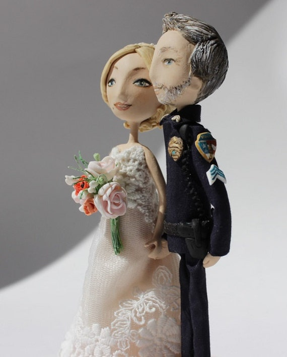 Police Wedding Cake Topper Custom By HouseOnTheCloud On Etsy