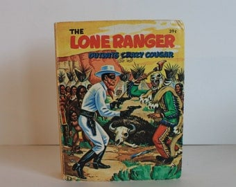 The Lone Ranger Outwits Crazy Cougar Hardcover Mini Book 1968