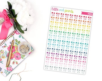Alarm Clock Planner Stickers for the Erin Condren Life Planner, Alarm Icon Sticker, Icon Planner Sticker - [P0033]