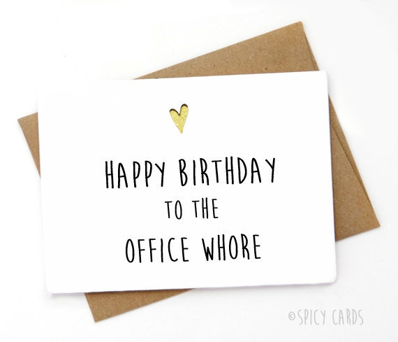 Funny Birthday Card Birthday Card for coworker birthday – Funny Inappropriate Birthday Cards
