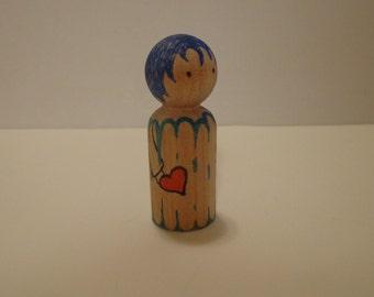 Heart Hug Child Peg Doll: John