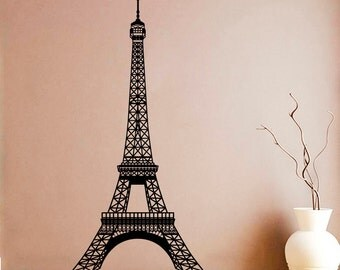 Eiffel Tower Wall Decal Paris Tower Vinyl Sticker Paris Decals Wall Vinyl Decor /1hmy/