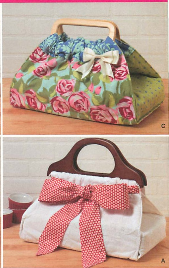 how to make a casserole carrier with wooden handles