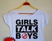 5 seconds of summer shirt 5sos Tshirt Girls Talk Boys shirt ghostbusters shirt Women Crop Top Crop Tee Women Tops & Tees Girls Talk Boys CT