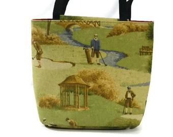 Canvas Hand Bag, Canvas Purse, Bags and Purses, Vintage Purse, Golf Hand Bag, Purse, Bag,Tote, Shoulder Bag, Boho Bag, Purse, Handbag, Bag