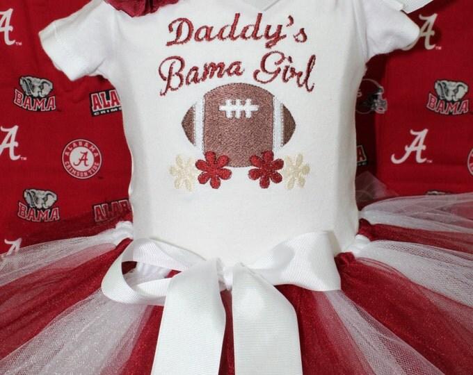 University of Alabama,Bama girl outfit,Roll Tide,Alabama baby gift, Crimson and white,Alabama bodysuit,Bama,Football bodysuit,Daddy's Girl