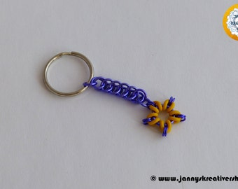 Key chain - star, Chainmaille