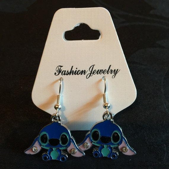 silver plated disney lilo and stitch earrings
