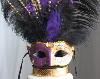 Mardi Gras Masquerade cake topper