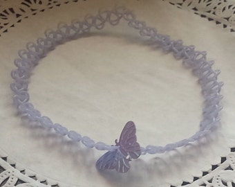 "Pastel Tatto Choker Collection- Periwinkle (Plain or with ""Sprinkles"")"