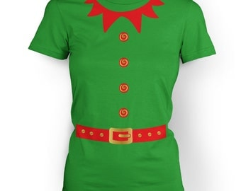 Elf Costume (Red Detail) womens t-shirt