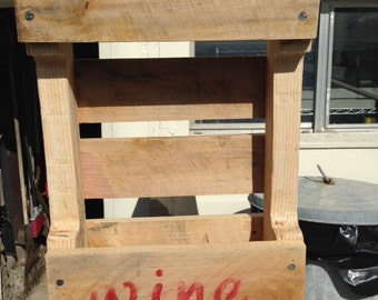 Pallet Two Bottle wine rack