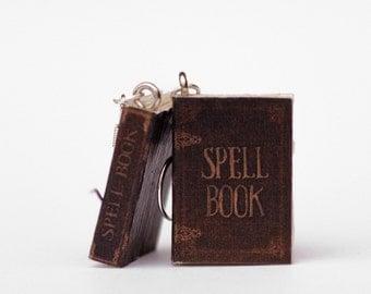 Spell Book Earrings, Miniature Book Earrings, Miniature Jewelry, Nickel Free Earrings, Halloween Jewelry, Mini Books Charms