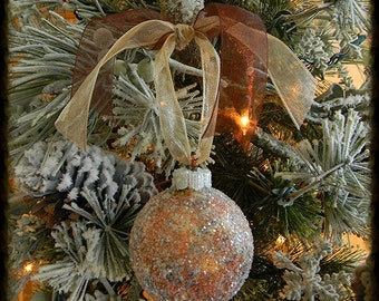Christmas Tree Ornaments, Glass Christmas Ornaments, Painted Ornaments, Christmas Bulbs, Christmas Balls, Brown, Gold, Unique Ornaments