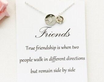 Compass gift, compass, friend gift, true friend gift, compass necklace, friendship gift, best friend necklace, friend gift, BMCNTFCOM