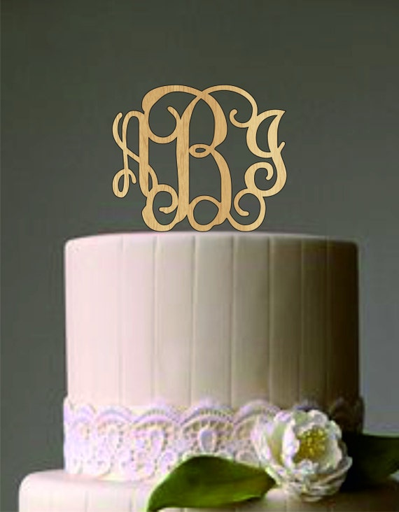 wedding cake topper monogram initials personalized monogram wedding cake topper initials 8808