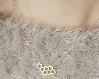 Sale!! Honeycomb necklace