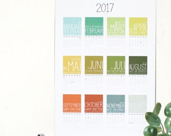 SALE! Calendar 2017 * Bauer rules *.
