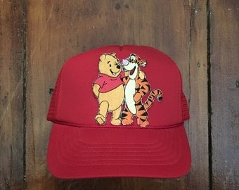 Vintage Tigger Winnie the Pooh Trucker Hat Snapback Baseball Cap Patch