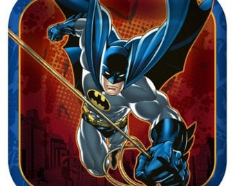 Batman ''Heroes and Villains'' Dessert Square Paper Plates 8ct
