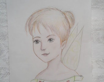 Colored Pencil Drawing-Stylized Tink