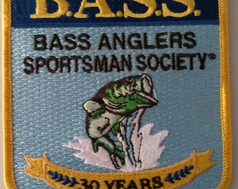 Patch BASS Anglers Sportsman Society 30 Years Sew On Collectible