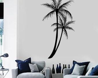 Wall Decal Palm Tree Floral Romantic Vinyl Sticker Art 1427dz