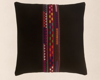 Akha Hand Embroidered Decorative Cushion Cover - Fair Trade