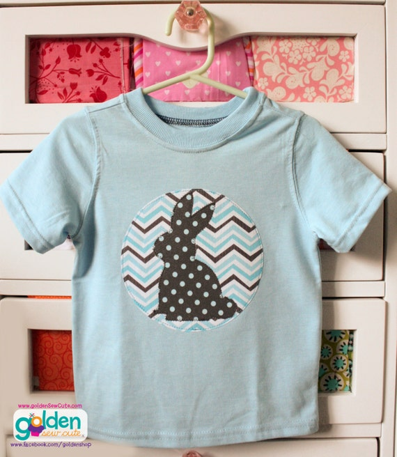 Easter Bunny Silhouette Boy Spring Tee