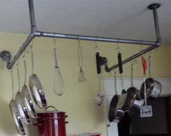 Ceiling and Wall Mounted Pot and Pan Rack
